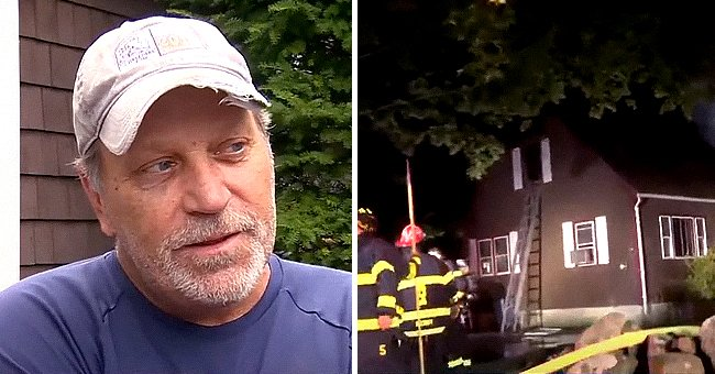 Man who rescued his neighbor from a fire. | Photo: youtube/wcvb