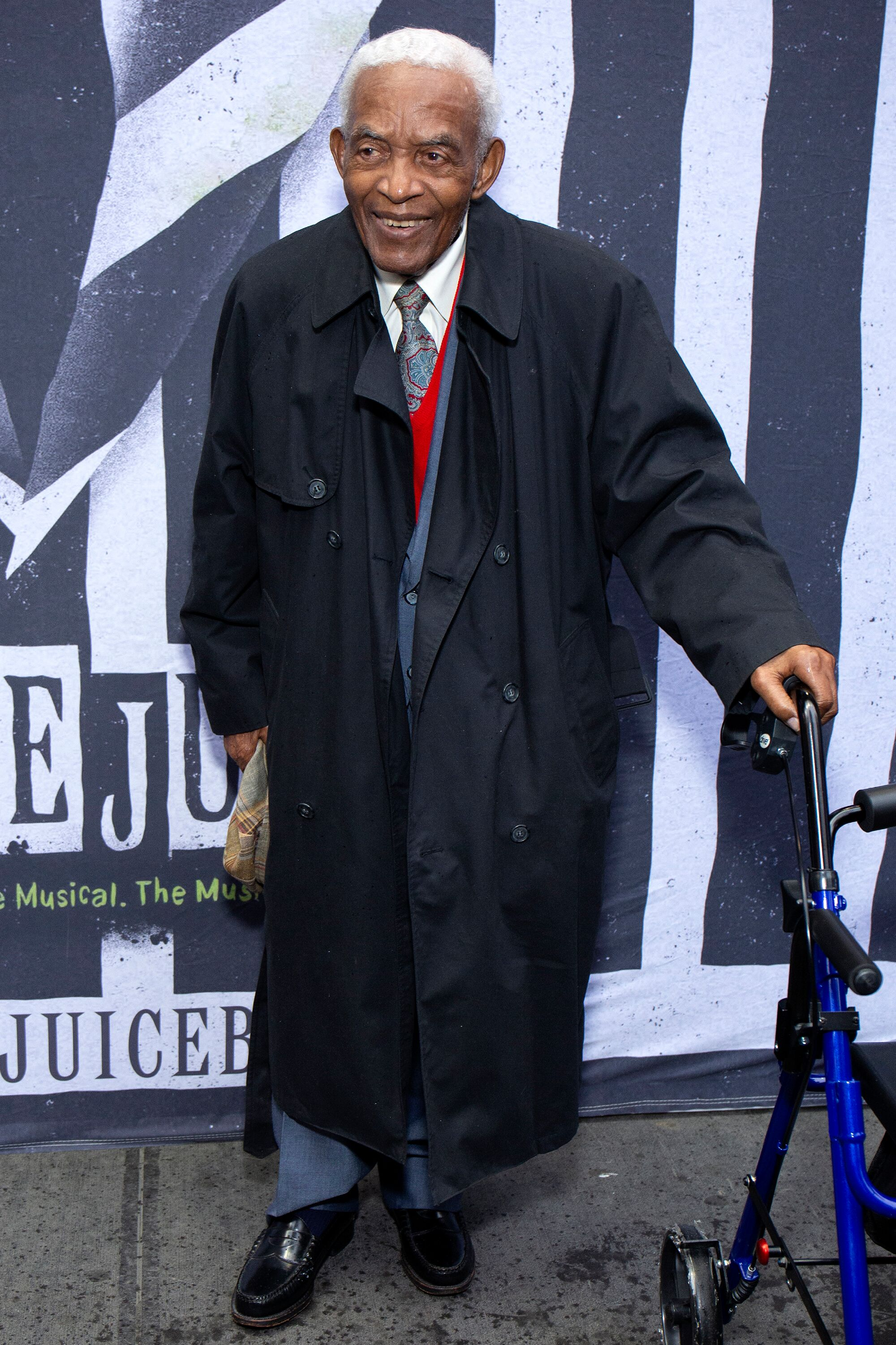 "Irving Burgie à la soirée d'ouverture de ""Beetlejuice"" au Winter Garden Theatre de New York 
