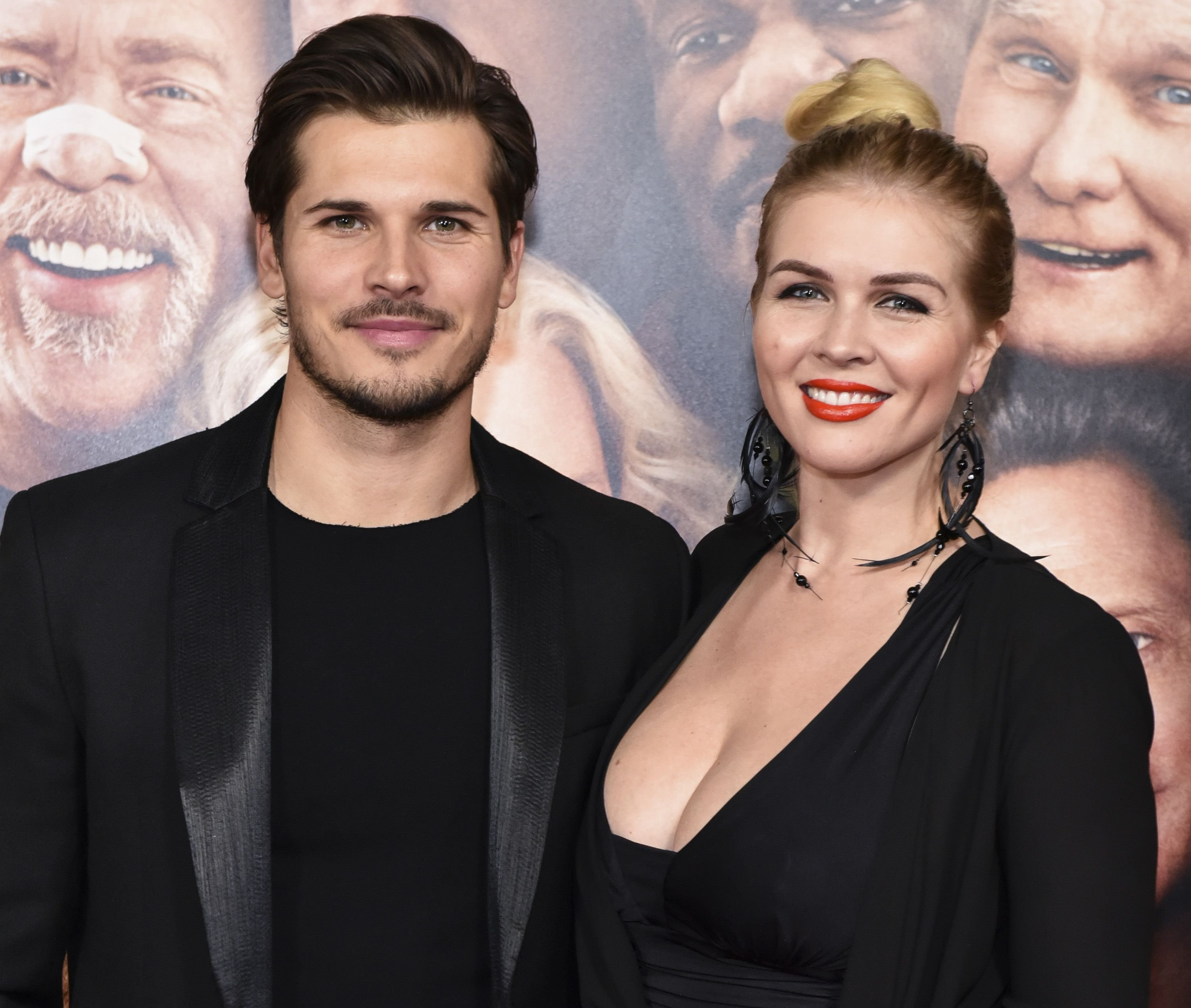 """Gleb Savchenko and Elena Samodanova at the premiere of """"Father Figures"""" at TCL Chinese Theatre on December 13, 2017 