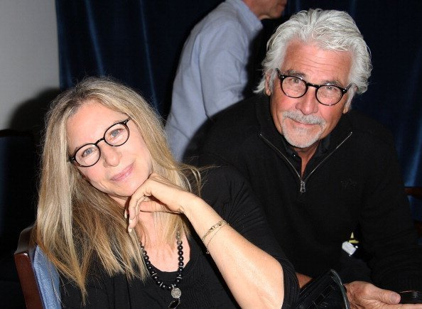 "Barbra Streisand and James Brolin attend the ""And So It Goes"" premiere on July 6, 2014 