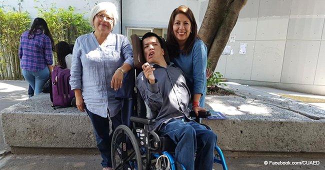 Joven con parálisis cerebral se convierte en profesor universitario