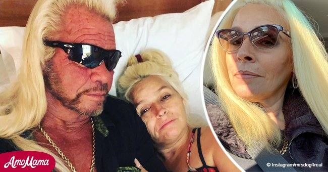 """Beth Chapman comparte su primera foto después de comenzar la quimioterapia, dice """"cáncer apesta"""""""