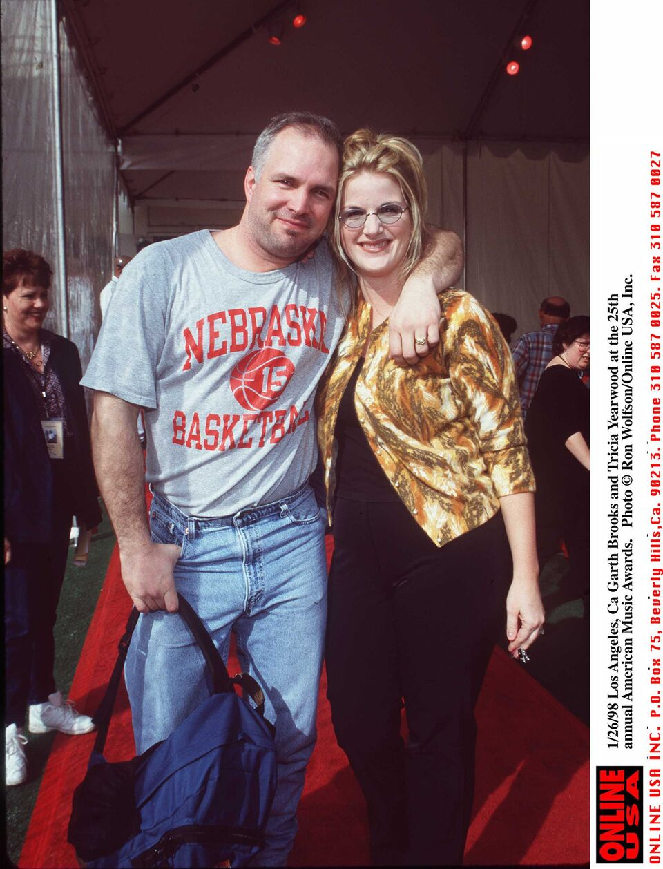 Garth Brooks and Trisha Yearwood at the 25th annual American Music Awards.   Getty Images