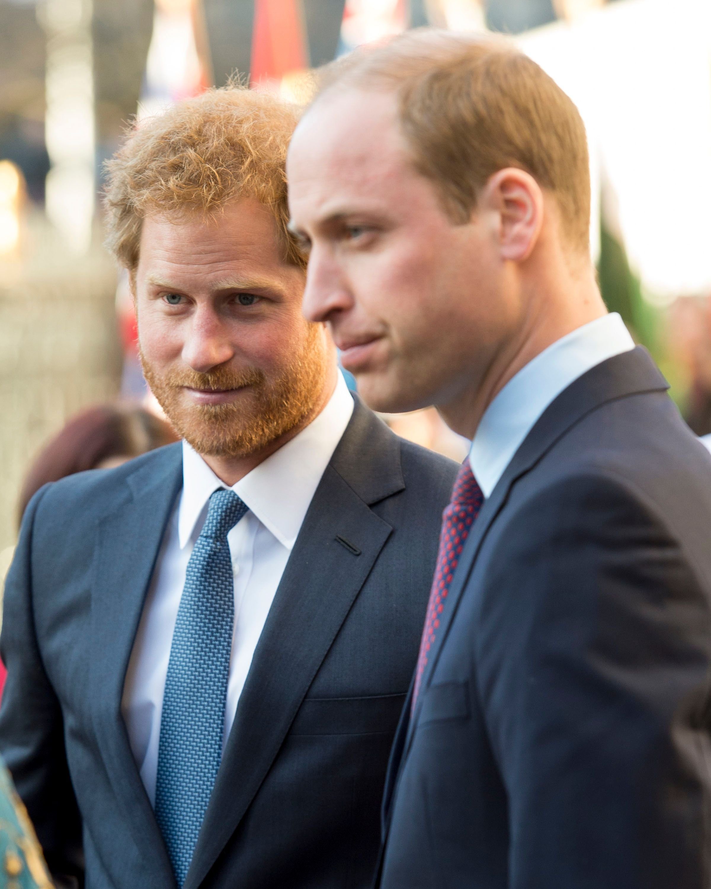 Prince Harry and Prince William at the Commonwealth Observance Day Service on March 14, 2016 | Getty Images