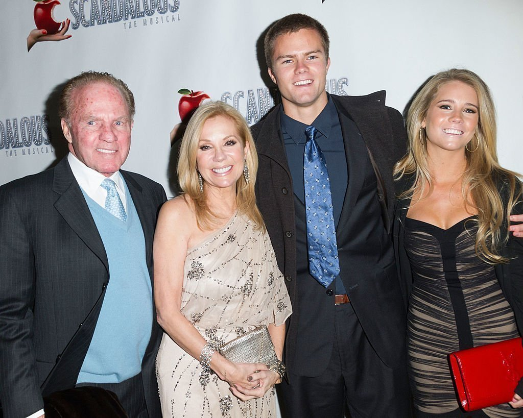 "Frank Gifford, Kathie Lee Gifford, Cassidy Gifford and Cody Gifford at the ""Scandalous"" Broadway Opening Night on November 15, 2012 