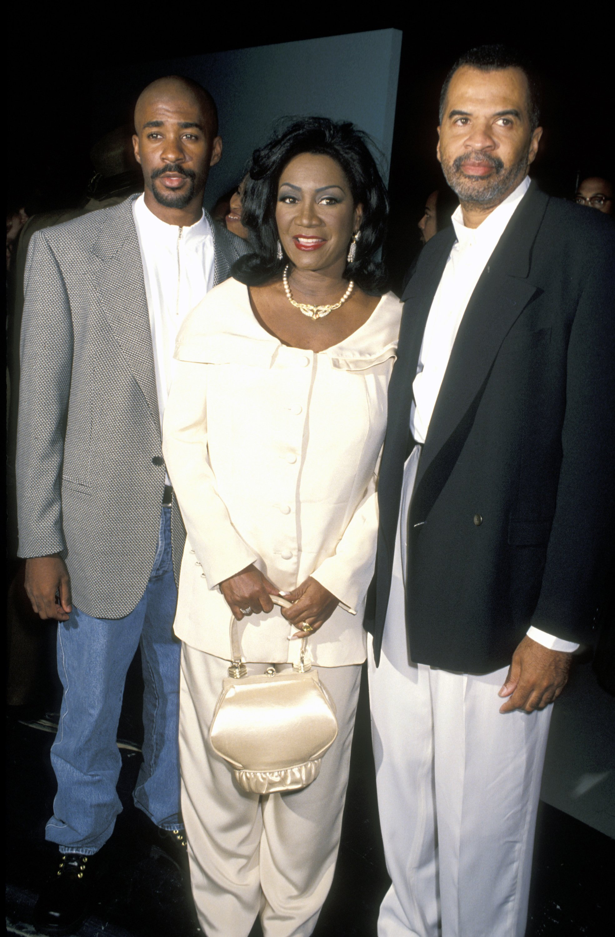 """Patti LaBelle, Son Zuli, and Husband Armstead during """"Out All Night"""" Series Premiere Party on September 11, 1992 at Raleigh Studios in Hollywood, California    Photo: Getty Images"""