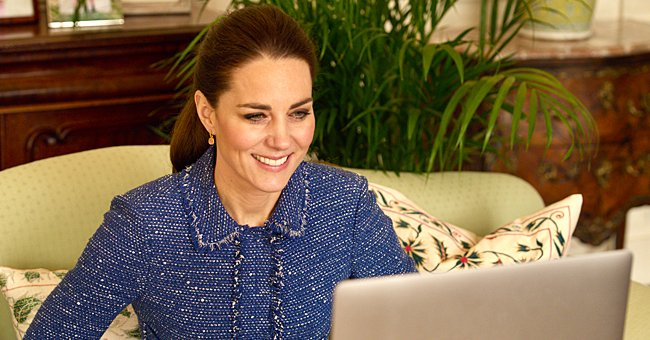 Kate Middleton Re-Wears Blue Rebecca Taylor Tweed Jacket as She Praises Teachers for Their Work