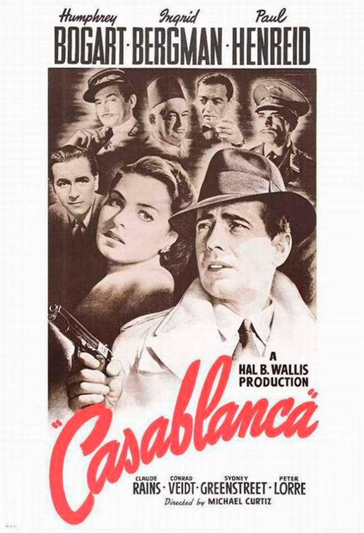 """Film poster for """"Casablanca"""" -- 1942 
