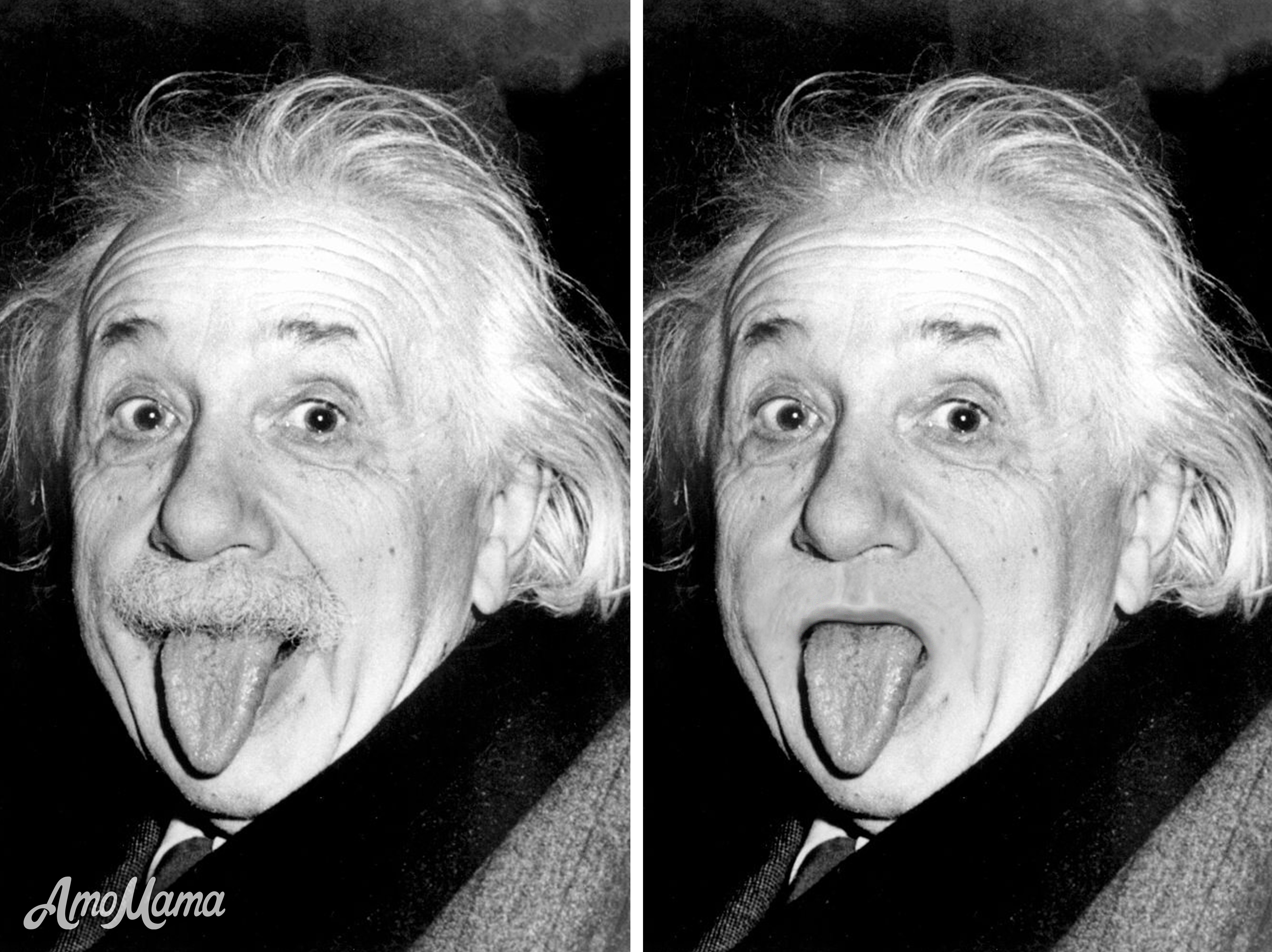 Albert Einstein's before and after moustache look | Photo: Getty Images