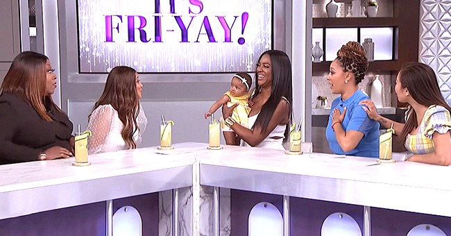 Kenya Moore's Baby Brooklyn Is Too Cute as She Makes TV Debut on 'The Real'