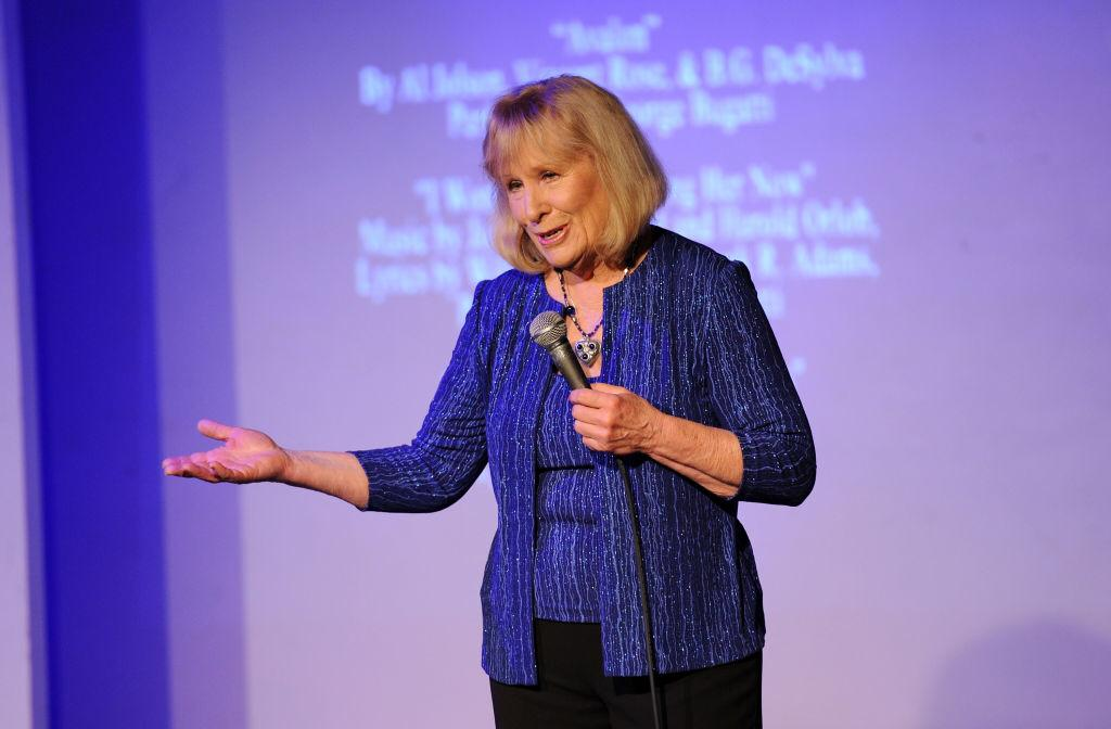 """Christina Crawford speaks during the documentary screening of """"Christina Crawford: Surviving Mommie Dearest"""" at St. Luke's Theater on November 20, 2013   Photo: Getty Images"""