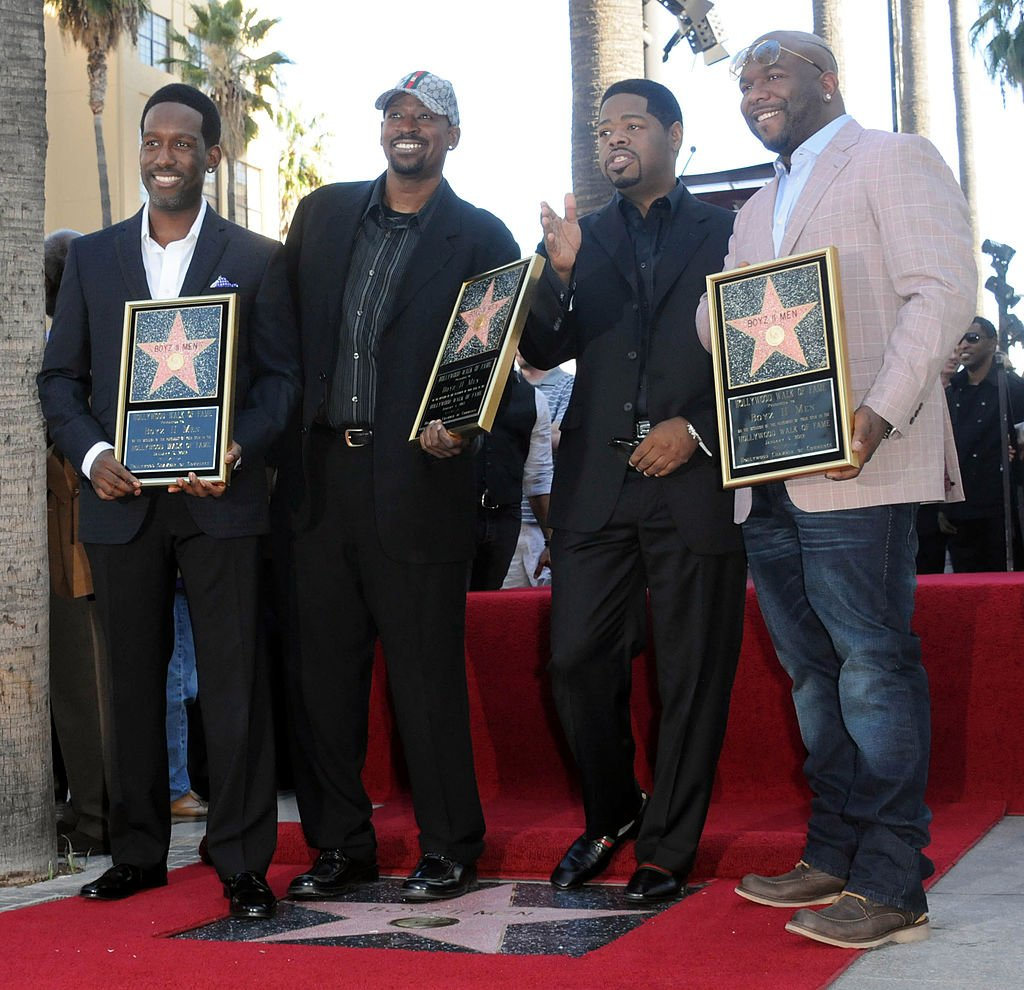 Nathan Morris, Michael McCary, Shawn Stockman and Wanya Morris of Boyz II Men Honored On The Hollywood Walk Of Fame. | Photo: Getty Images