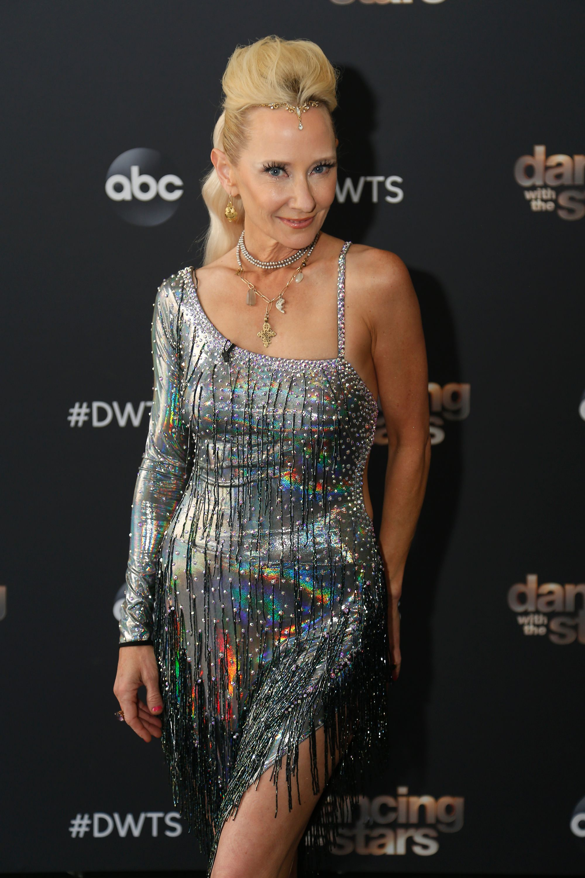 """Anne Heche at the premiere of """"Dancing with the Stars"""" on September 14, 2020 