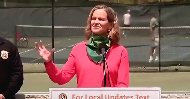 New York County Executive Laura Curran addresses the public | Photo: Youtube/@Daily Blast LIVE