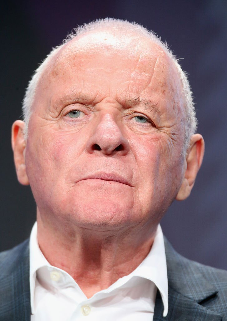 Sir Anthony Hopkins speaks onstage during the 'Westworld' panel discussion at the HBO portion of the 2016 Television Critics Association Summer Tour | Getty Images