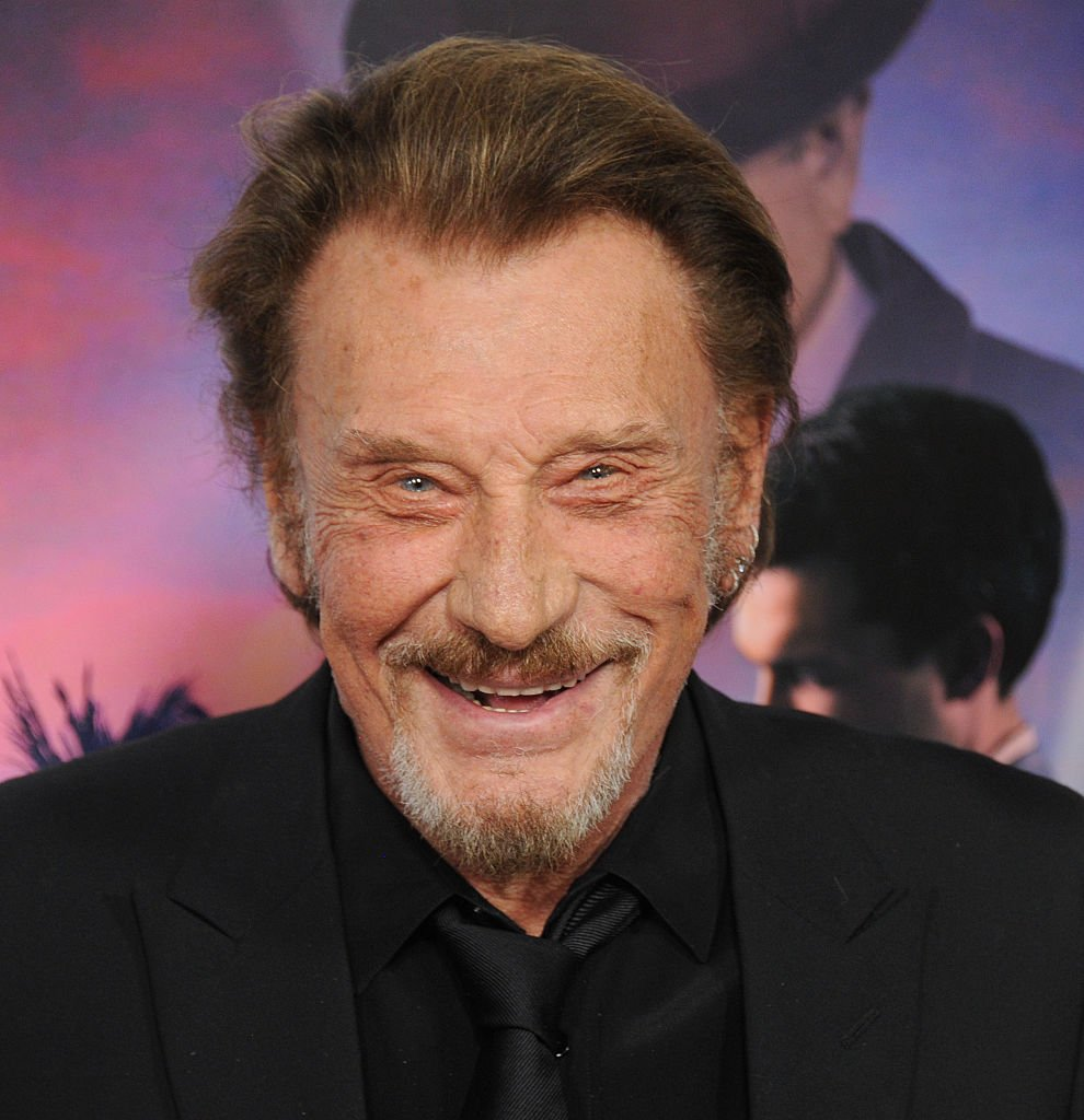 Johnny Hallyday souriant. | Photo : Getty Images