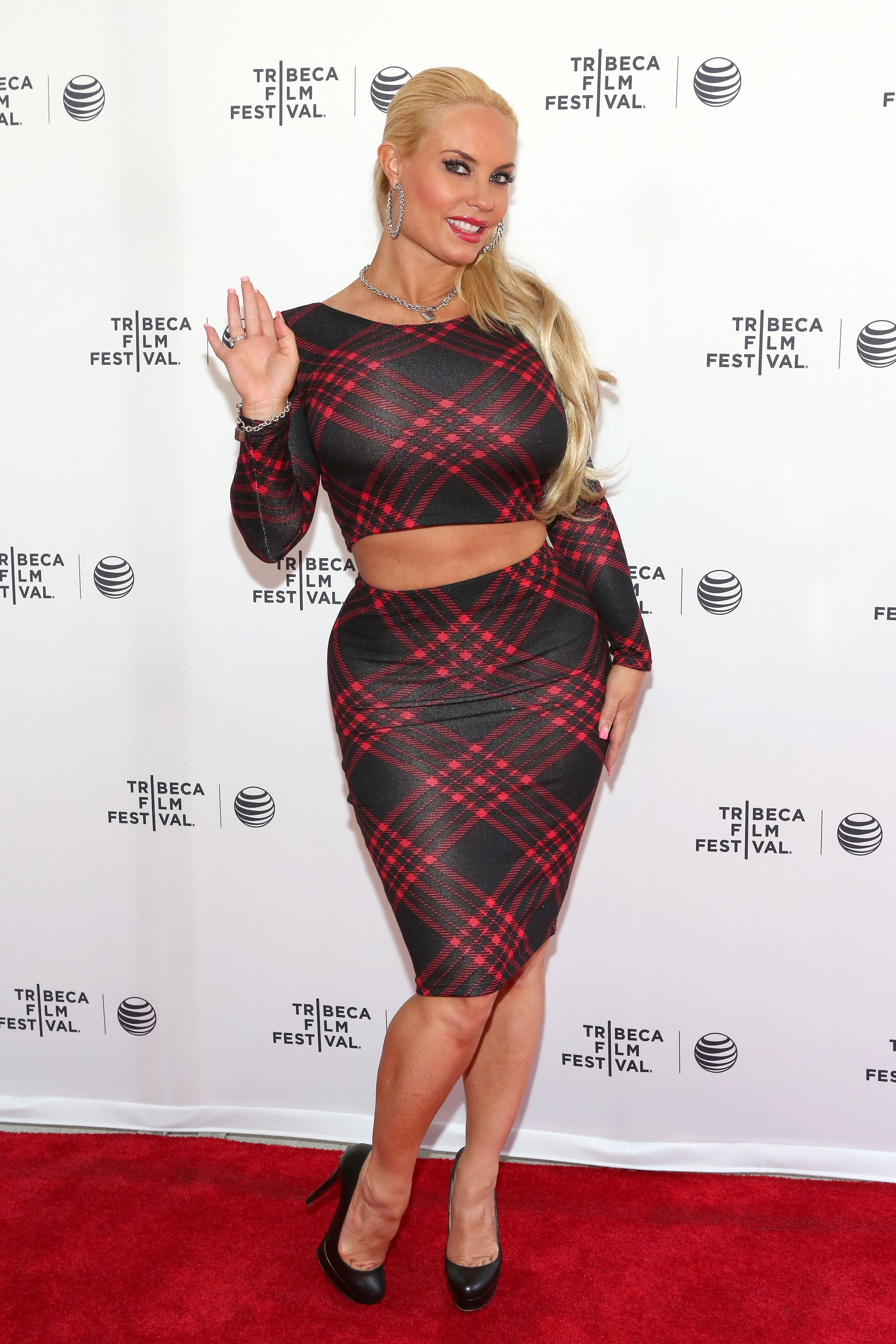"""TV Personality Coco Austin attends Tribeca Talks: After the Movie: """"Champs"""" during the 2014 Tribeca Film Festival at the SVA Theater on April 19, 2014 in New York City 