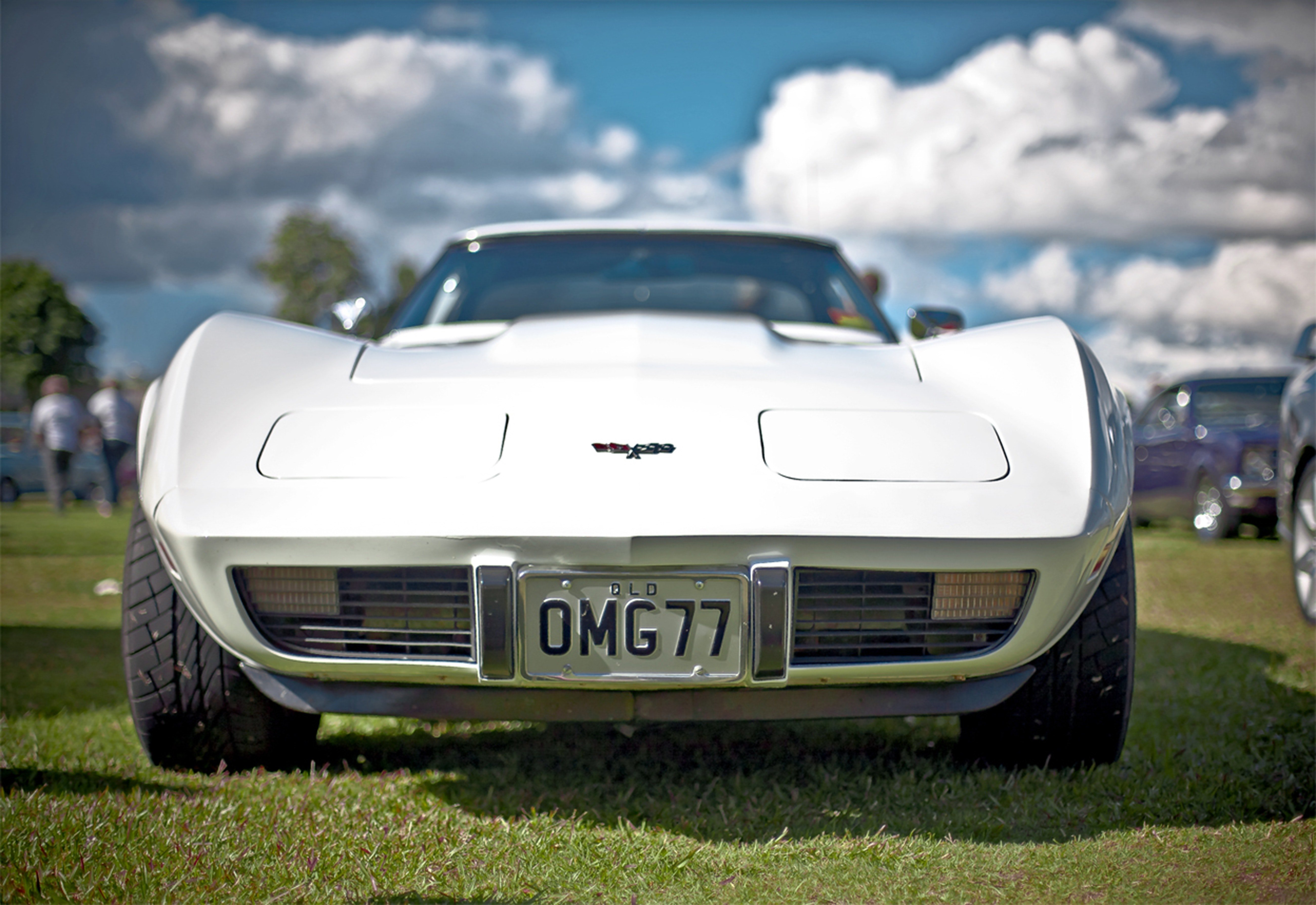 A White Corvette C3 . | Source: Pexels