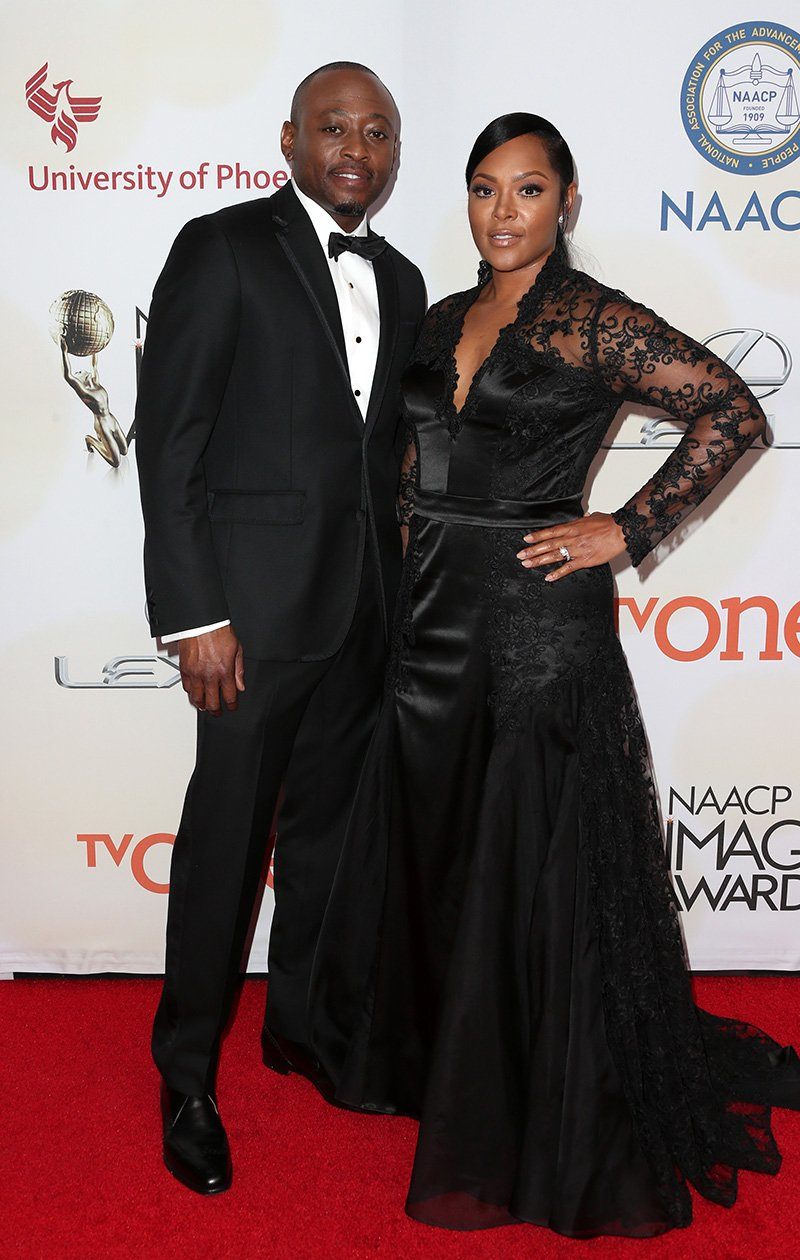Omar Epps  and Keisha Epps arrive at the 46th Annual NAACP Image Awards on February 6, 2015 in Pasadena, California. I Image: Getty Images.