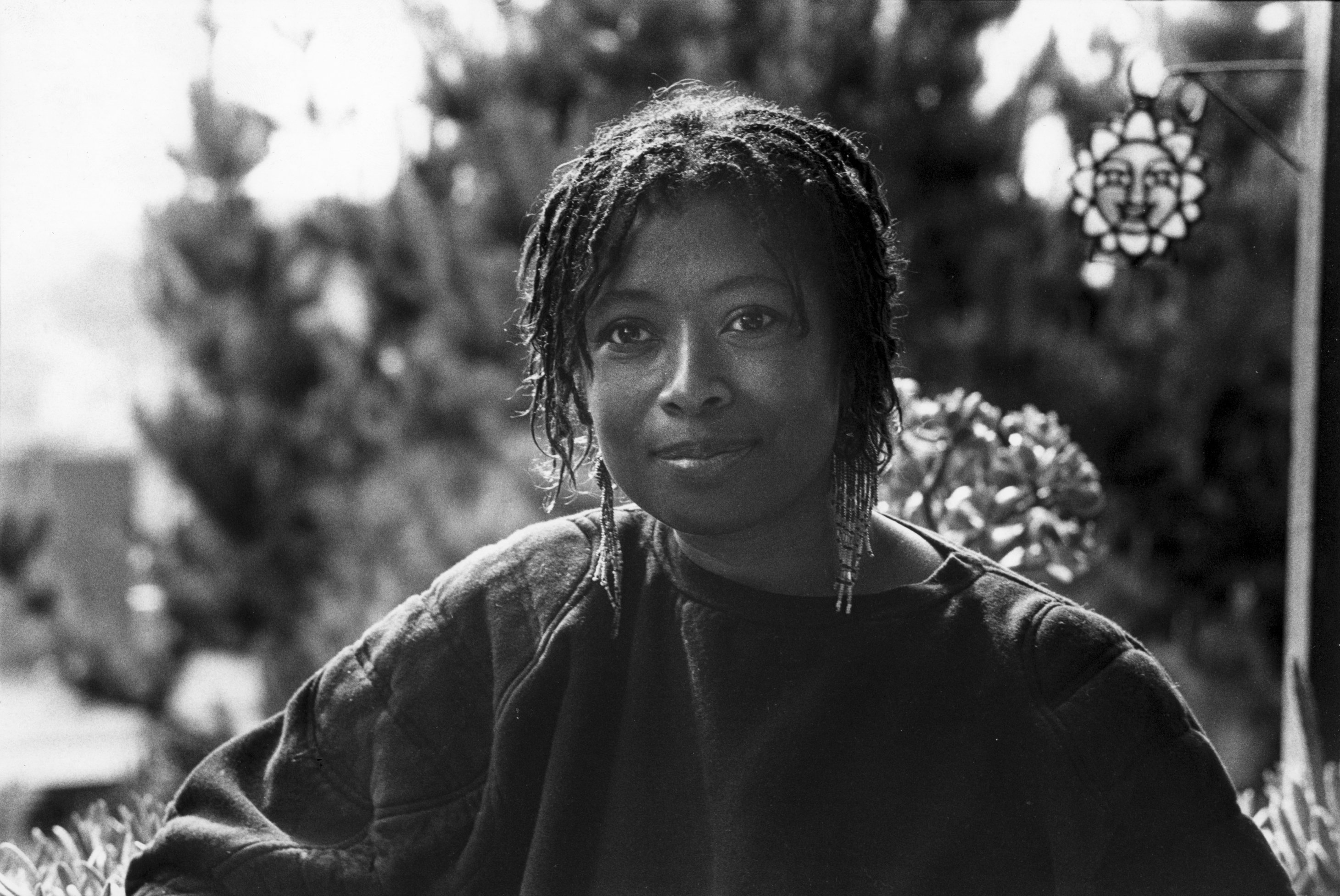 Alice Walker , Best known for her novel 'The Color Purple', poses for portrait at home in San Francisco in January, 1985. | Photo by Mikki Ansin/Getty Images