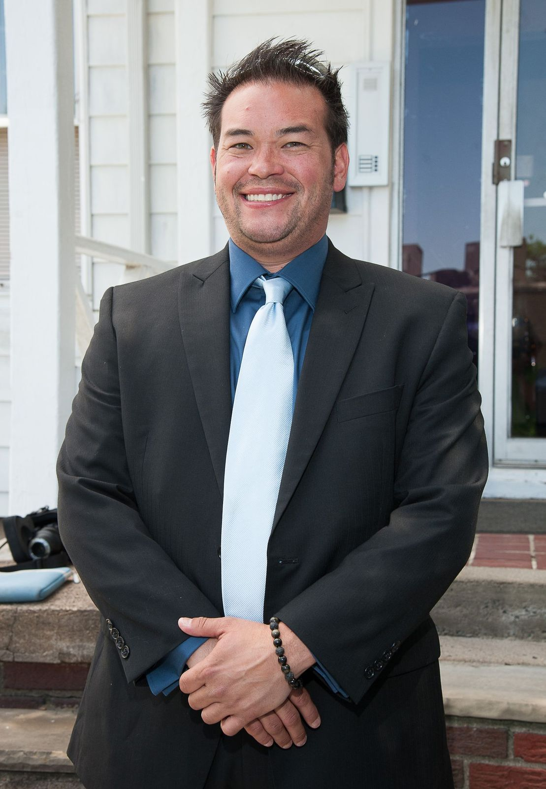 Jon Gosselin at a press conference on Tax Deductible Marriage Counseling at Bergen Marriage Counseling & Psychotherapy on June 27, 2012, in Teaneck, New Jersey | Photo: Dave Kotinsky/Getty Images