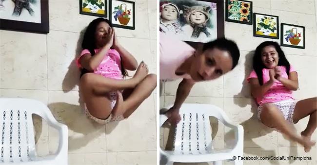 Niña encuentra el truco perfecto para levitar, pero su mamá lo arruina todo en divetido video