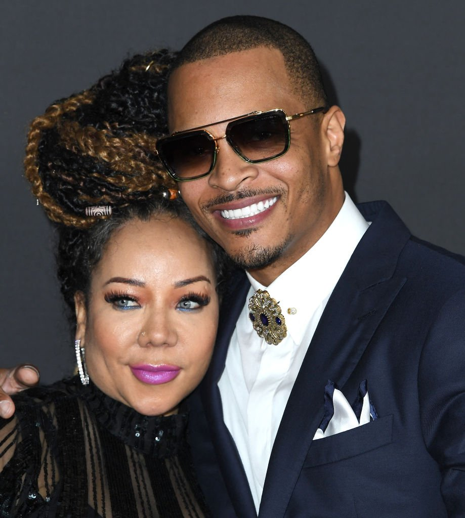 Tameka Cottle and T.I. arrive at the 51st NAACP Image Awards on February 22, 2020 in Pasadena, California | Photo: Getty Images