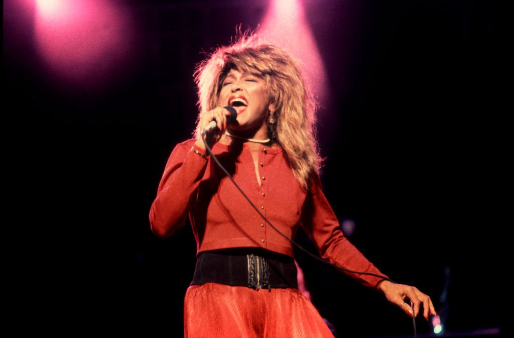 Tina Turner performing at the Poplar Creek Music Theater, Hoffman Estates in Illinois on September 12, 1987. | Source: Getty Images