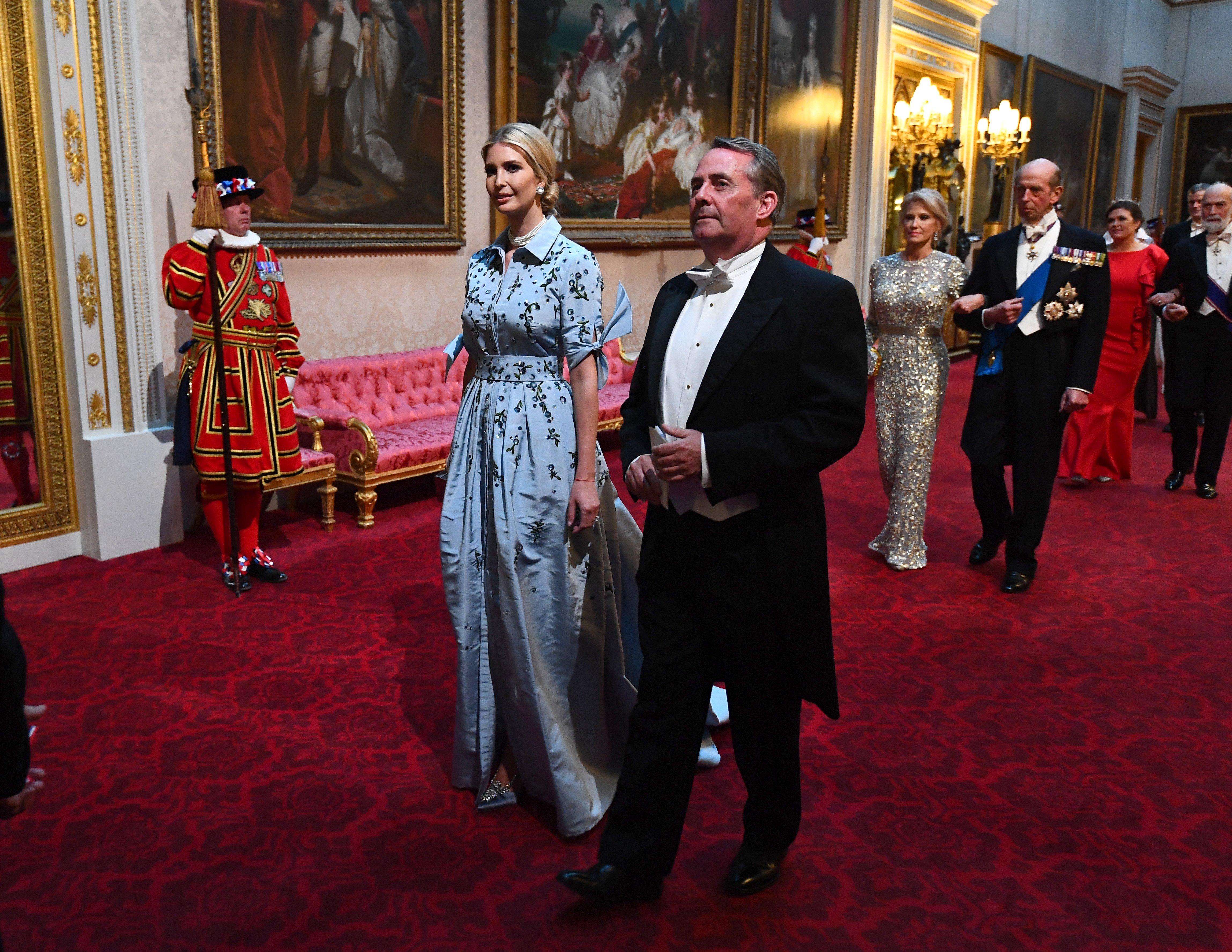 Ivanka Trump asiste al banquete estatal para su padre, el presidente de Estados Unidos, Donald Trump, el 3 de junio de 2019 | Imagen: Getty Images