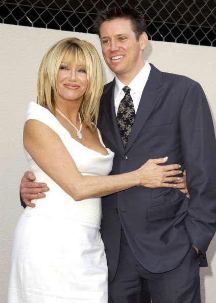Suzanne Somers & Son Bruce Jr. Somers during Suzanne Somers Honored with a Star on the Hollywood Walk of Fame for Her Achievements in Television at Hollywood Boulevard in Hollywood, California, United States | Photo: Getty Images