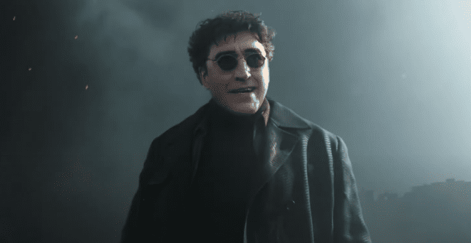 """Actor Alfred Molina as Dr. Otto Octavius aka Dr. Octopus in the trailer of """"Spider-Man: No Way Home"""" 