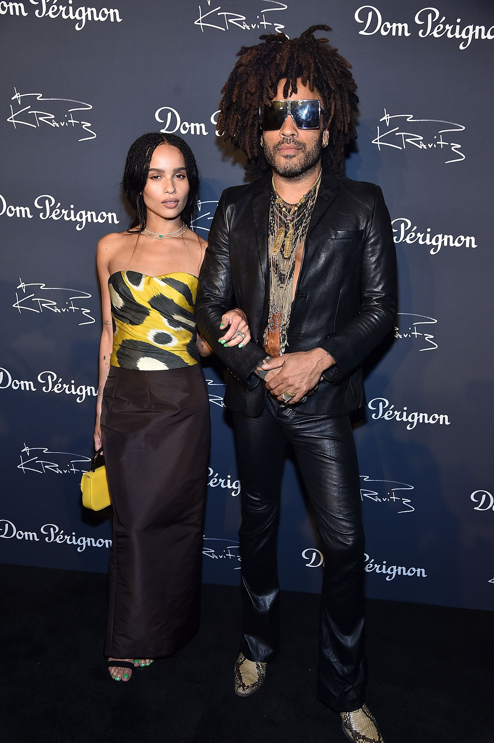 "Lenny Kravitz and his daughter Zoe Kravitz attend the Dom Perignon & Lenny Kravitz ""Assemblage"" Exhibition in September 2018 in NYC 