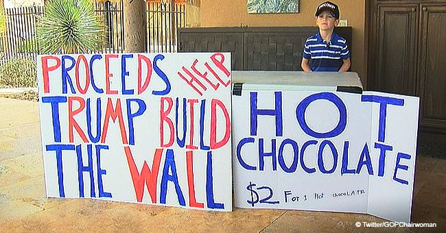 7-year-old boy called 'little Hitler' for selling hot chocolate to help Trump build the wall
