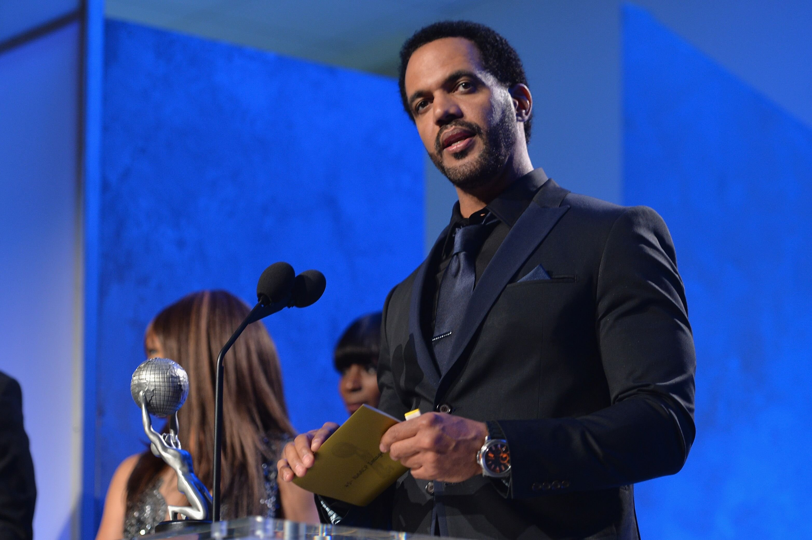 Kristoff St. John at the 45th NAACP Awards Ceremony at the Pasadena Civic Auditorium | Photo: Getty Images