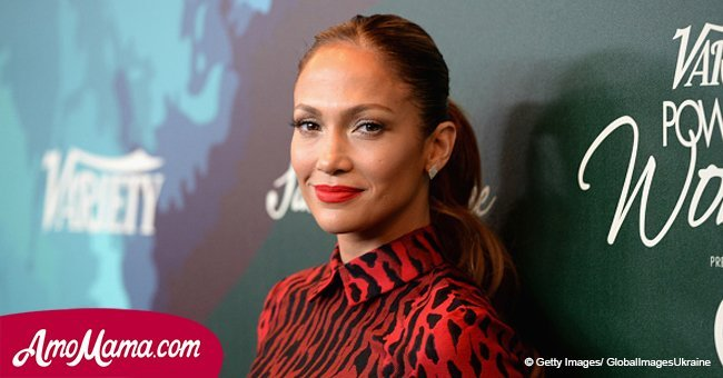 Jennifer Lopez, 48, flaunts her toned legs in a rose mini dress in recent photos