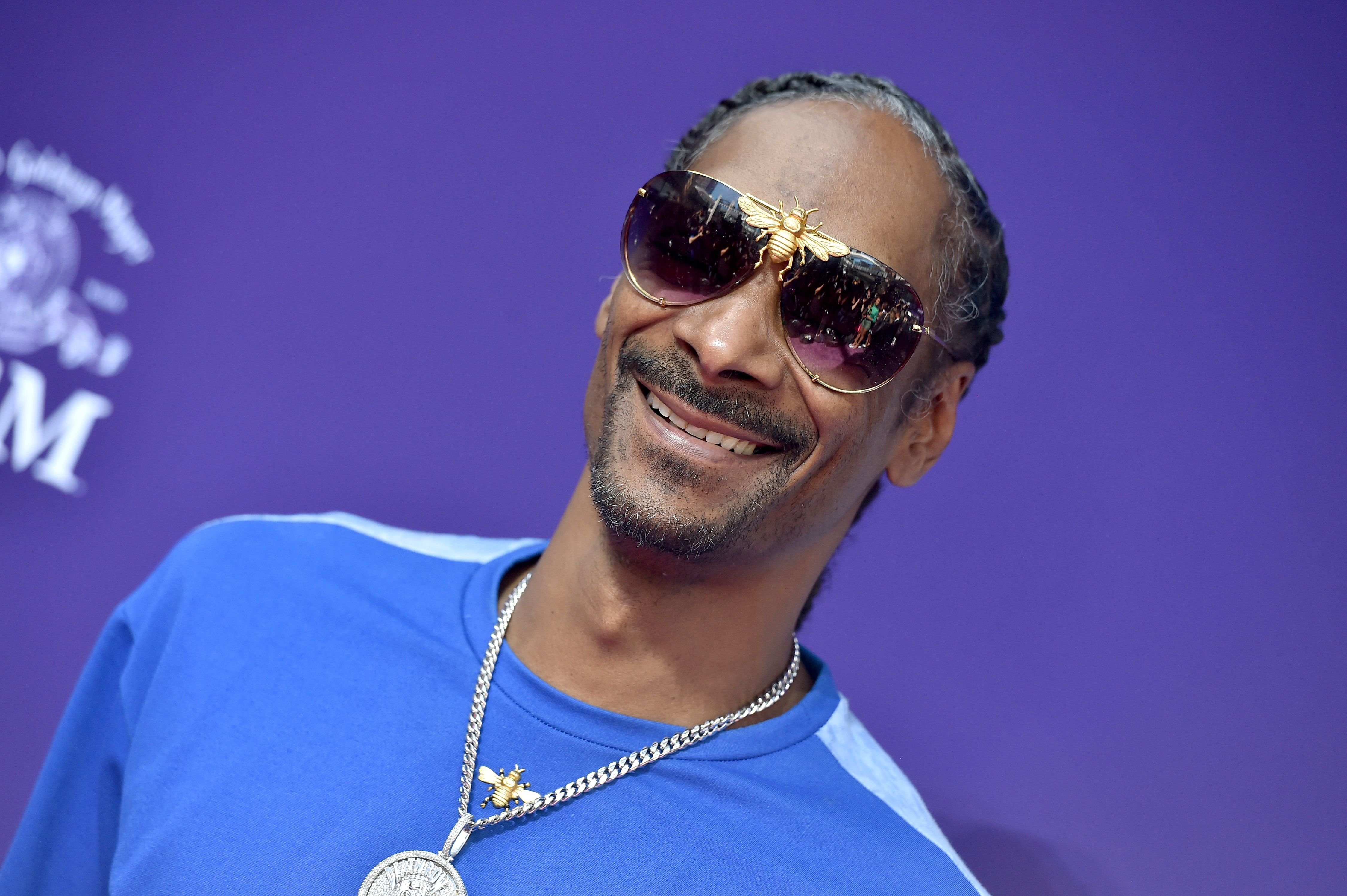 """Snoop Dogg during the Premiere of MGM's """"The Addams Family"""" at Westfield Century City AMC on October 06, 2019 in Los Angeles, California. 