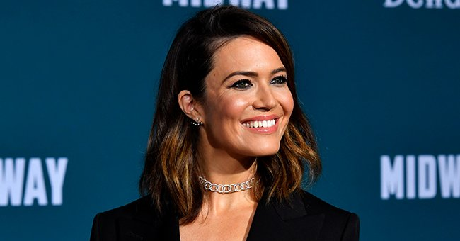 """Mandy Moore attends the Lionsgate premiere of """"Midway"""" at Regency Village Theatre on November 5, 2019 in Westwood, California. 