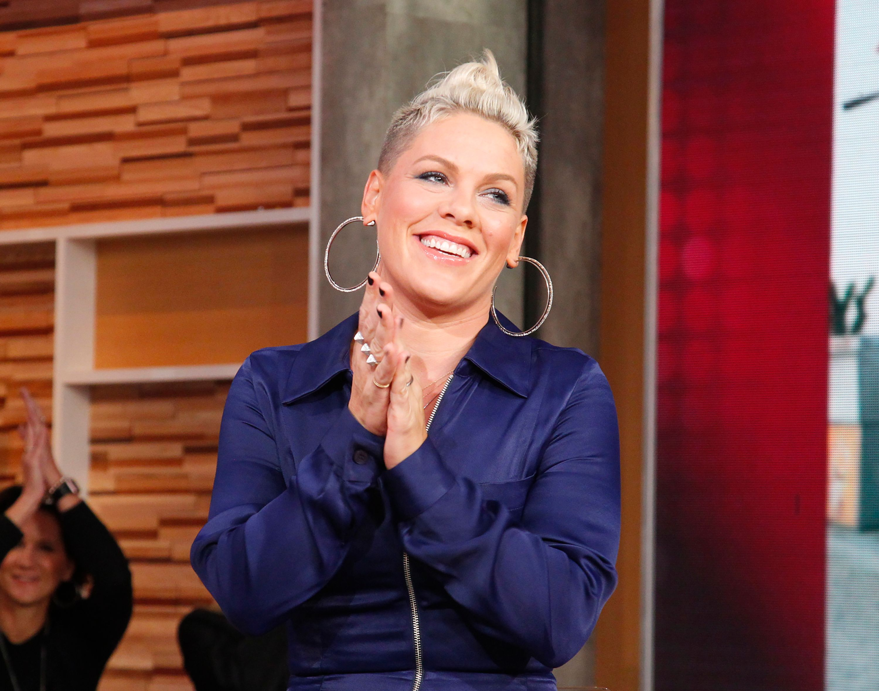 """Pink performs live on """"Good Morning America,"""" on Monday, October 16, 2017.   Photo: Getty Images"""