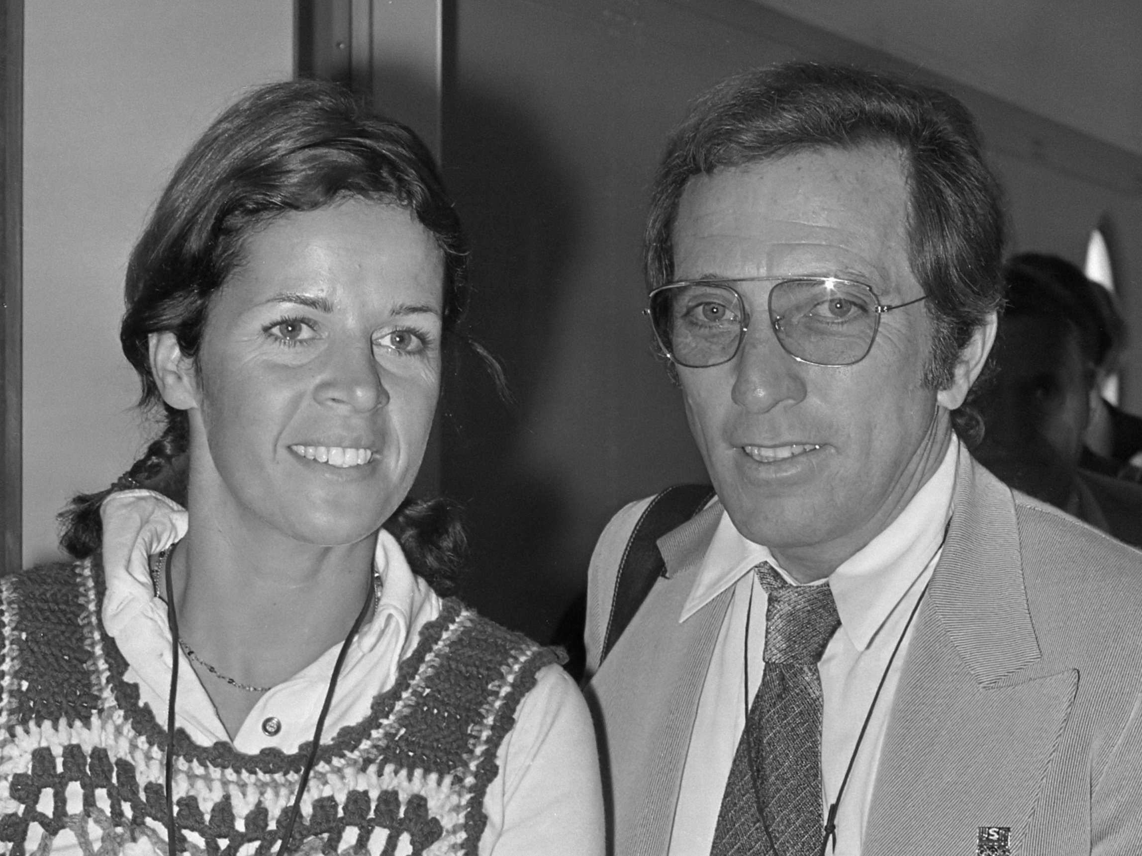 Andy Williams and Claudine Longet circa 1972. | Source: Wikimedia Commons