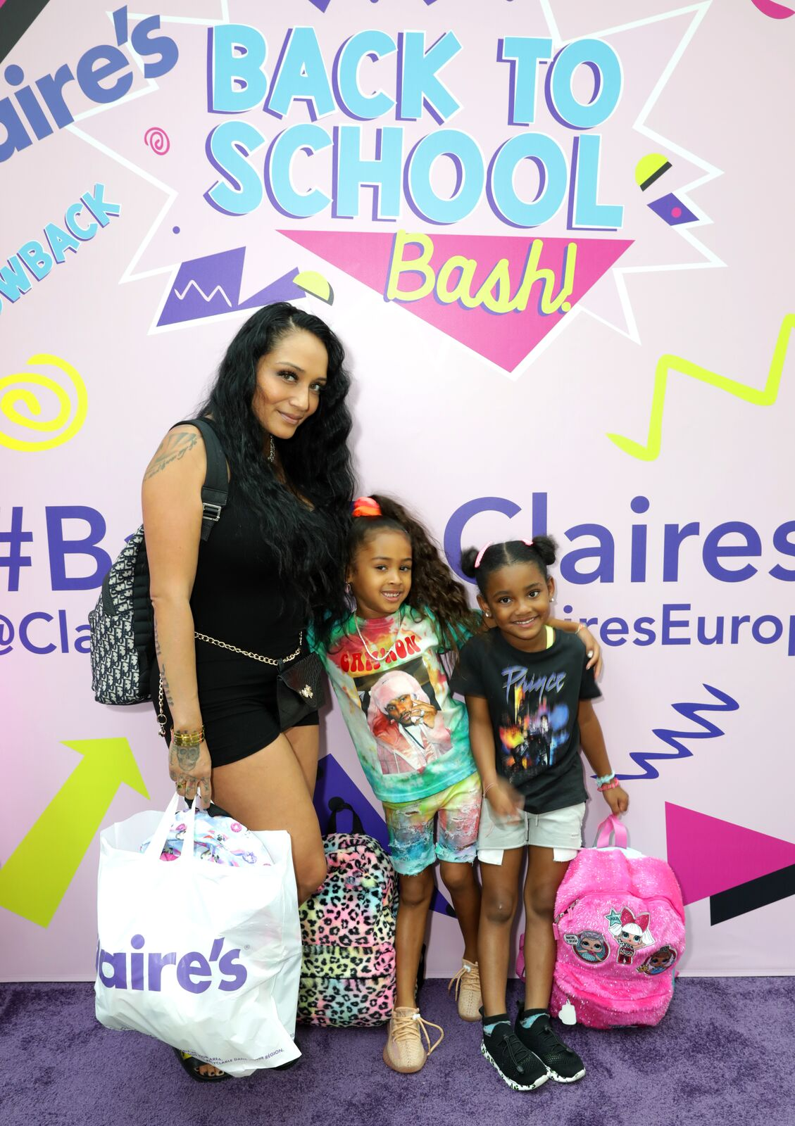 Nia Guzman, Royalty Brown and Dayci at Claire's Back to School Bash in Canoga Park California in 2019 | Source: Getty Images