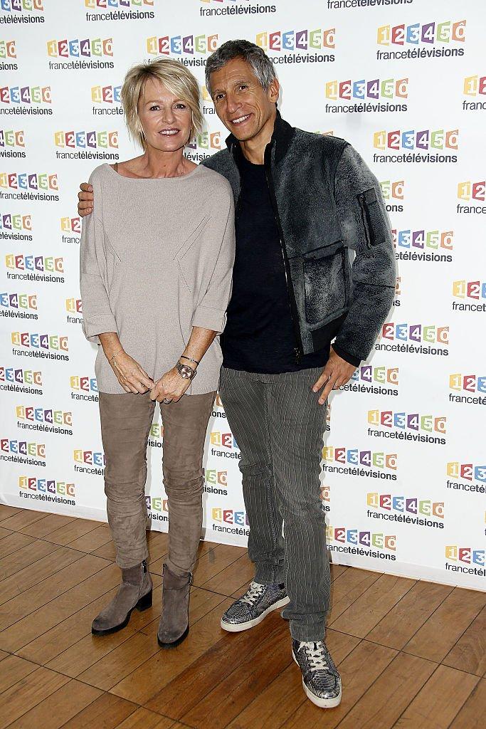 Nagui et Sophie Davant pour le Téléthon. l Source : Getty Images