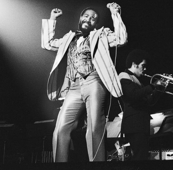 Marvin Gaye performing live on stage at Jaap Edenhal in Amsterdam, Netherlands in 1978 | Photo: Getty Images