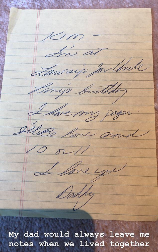 Note left by Robert Kardashian to Kim/ Source: Instagram/ Kim Kardashian