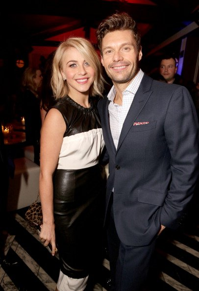 Julianne Hough and Ryan Seacrest at Cecconi's West Hollywood on February 13, 2013 in Los Angeles, California. | Photo: Getty Images