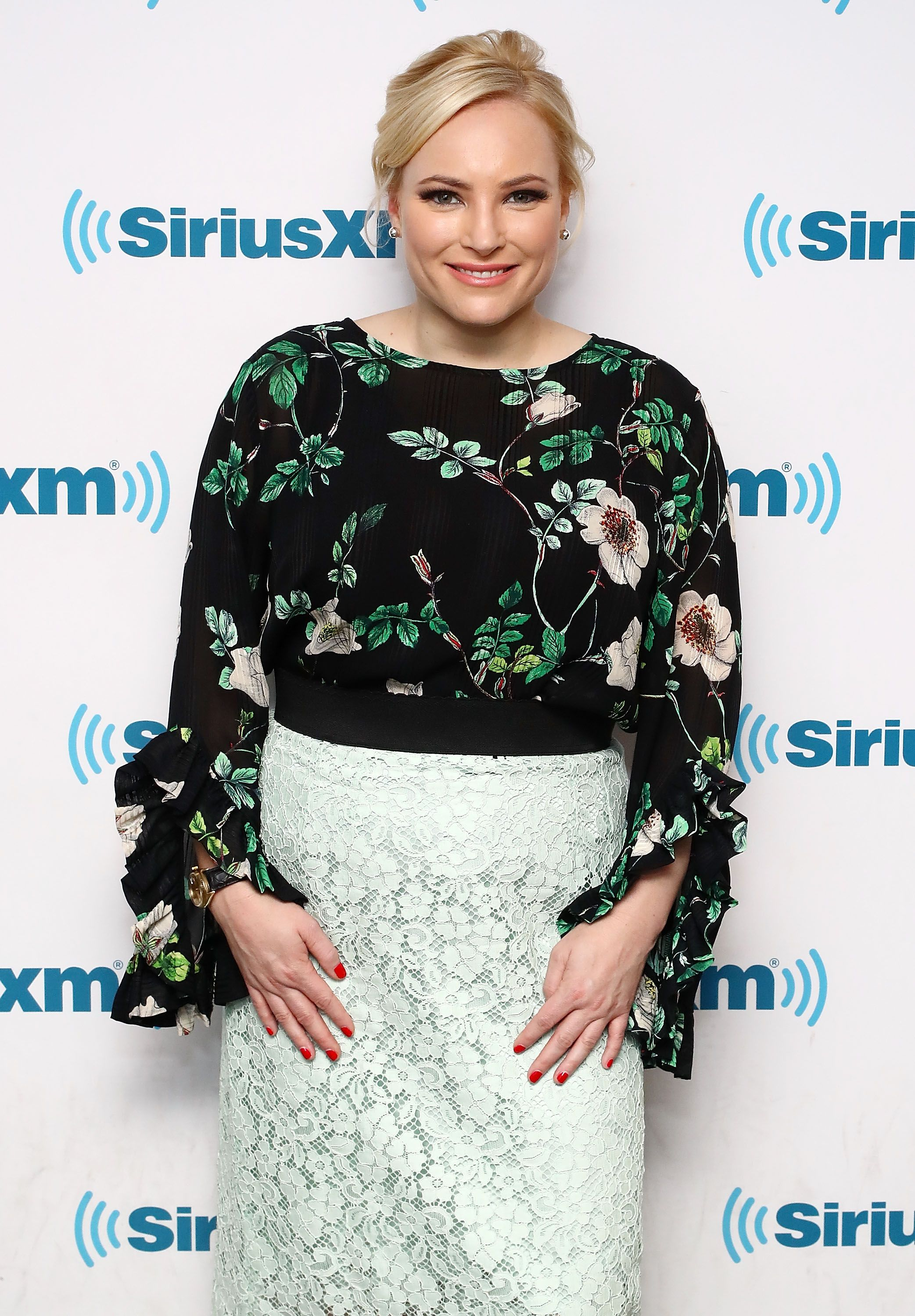 Meghan McCain visits the SiriusXM Studios on February 5, 2018, in New York City   Photo: Astrid Stawiarz/Getty Images