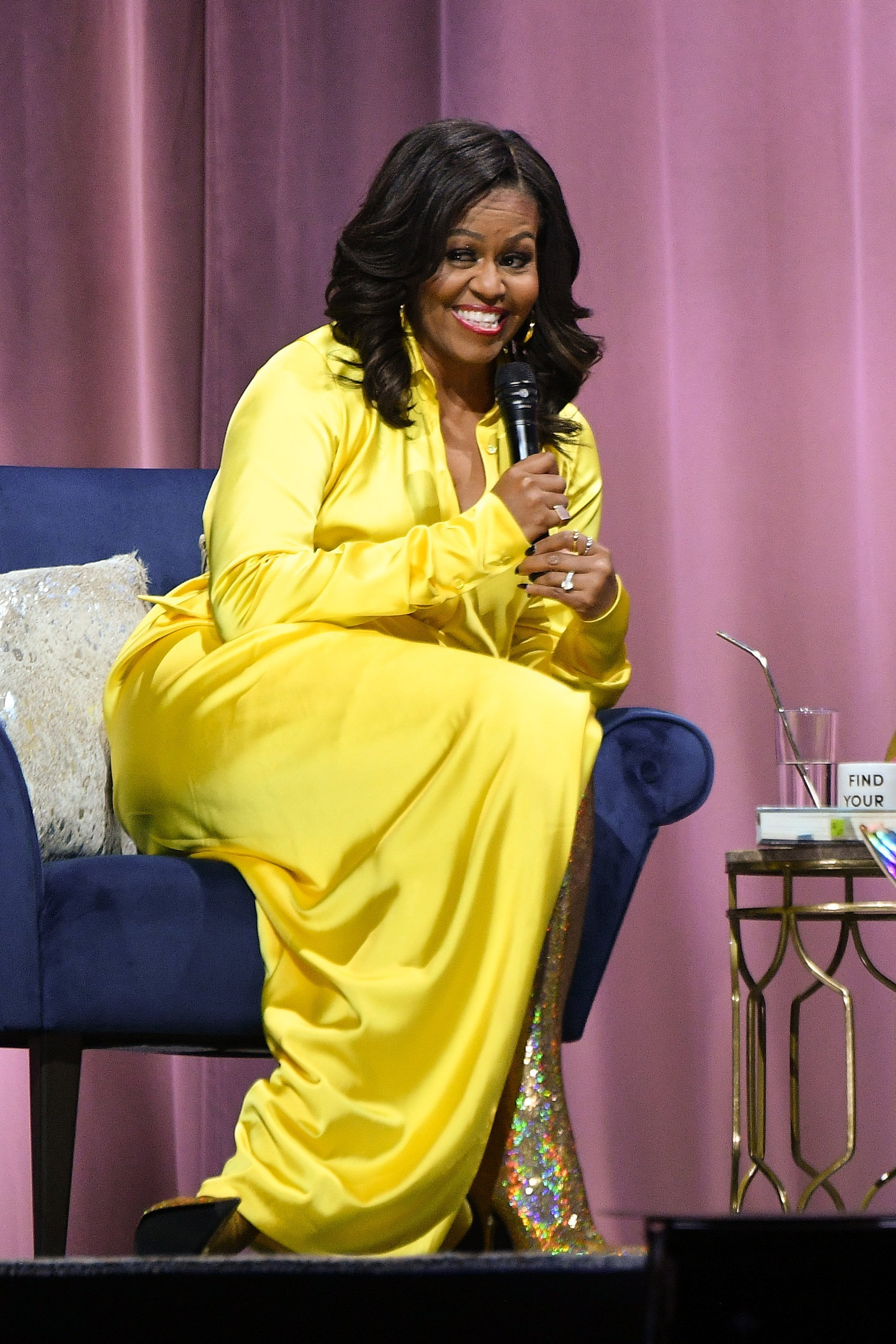 Michelle Obama discussing her book 'Becoming' at Barclays Center | Photo: Getty Images