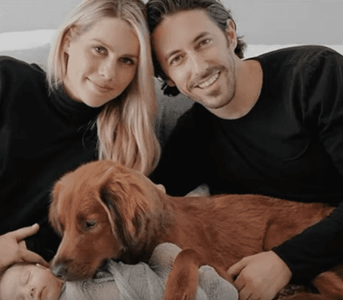 """Claire Holt discussing her newborn Baby and movie """"A Violent Separation"""" on May 14, 2019   Photo: Youtube/ KTLA 5"""