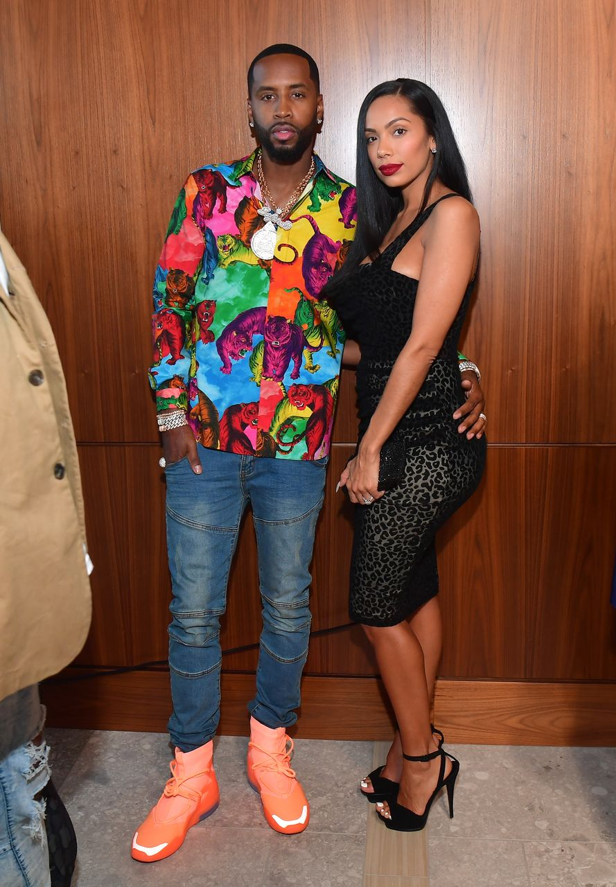 Safaree Samuels and Erica Mena during the 2019 BMI R&B/Hip-Hop Awards at Sandy Springs Performing Arts Center. | Photo: Getty Images