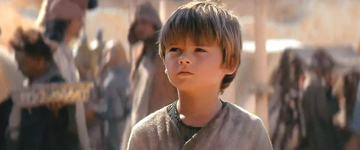 """Actor Jake Lloyd acting as Skywalker during an episode of """"Star Wars"""" 