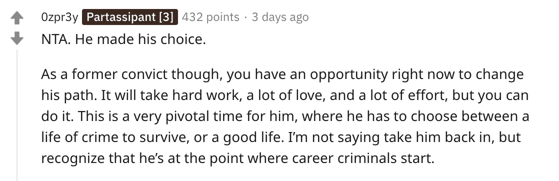 A Redditor's comment on a Reddit post. | Source: Reddit